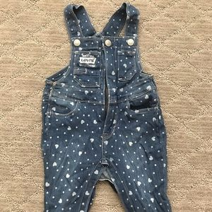Levi's overalls with hearts